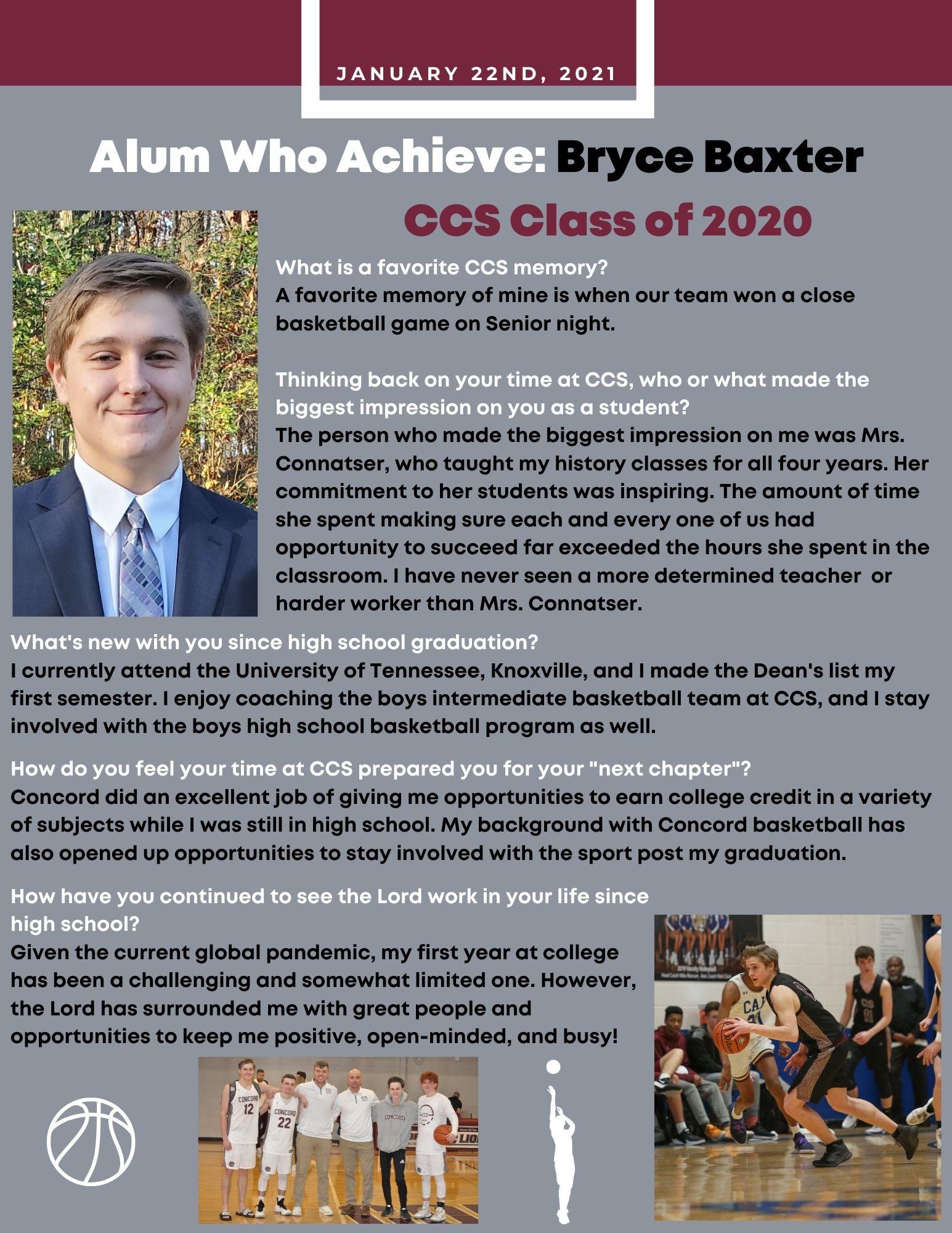 Alum Bryce Baxter