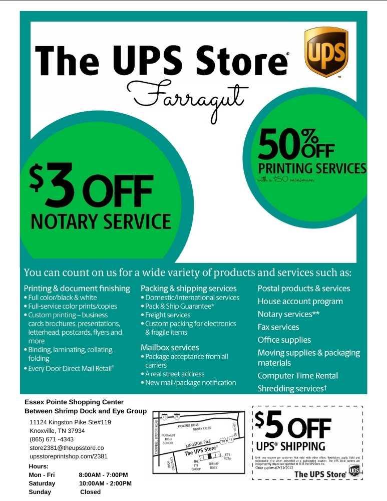 UPS Store Farragut